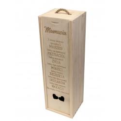 Pudełko skrzynia na wino whisky PREZENT
