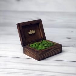 Drewniane pudełko na obrączki białe