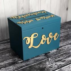 Skrzynia pudełko na koperty drewniana PREMIUM 2