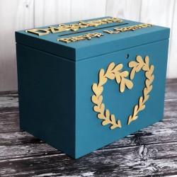 Skrzynia pudełko na koperty drewniana PREMIUM 3