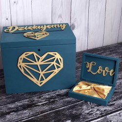 Zestaw pudełko na koperty i obrączki Ażur PREMIUM 3
