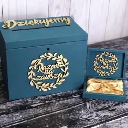 Zestaw pudełko na koperty i obrączki Love PREMIUM 4
