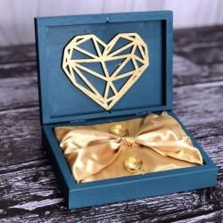 Pudełko drewniane na obrączki PREMIUM