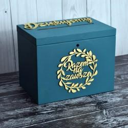 Skrzynia pudełko na koperty drewniana PREMIUM 4