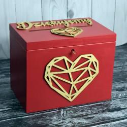 Skrzynia pudełko na koperty drewniana Styl Marsala 2