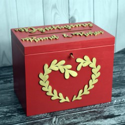 Skrzynia pudełko na koperty drewniana Styl Marsala 3