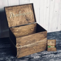 Zestaw rustykalne pudełko na koperty i obrączki Rustic