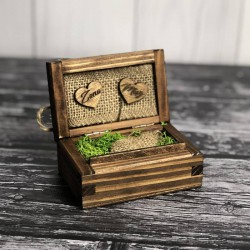 Rustykalne pudełko na obrączki Rustic