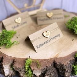 Winetki rustykalne na stół weselny ECO