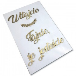 Tablica powitalna  Fajnie, że jesteście biało złota