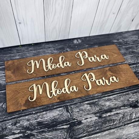 Drewniane ślubne tablice rejestracyjne ze sklejki RODZICE