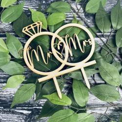 Drewniany topper pierścień MRS MR