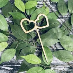 Drewniany topper serca