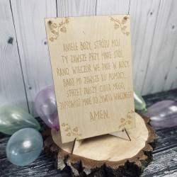 Tabliczka A4 Aniele Boży modlitwa dla dziecka