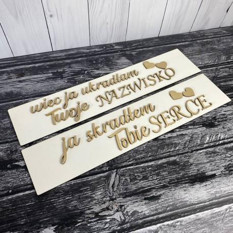 Ślubne tablice rejestracyjne białe