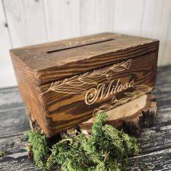 Pudełko na koperty weselne Small Rustic
