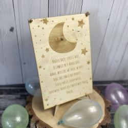 Drewniana tabliczka z modlitwą Aniele Boży