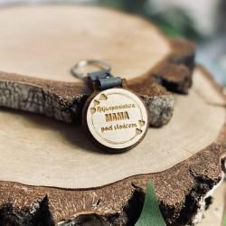 """Brelok drewniany """"Najwspanialsza Mama"""""""
