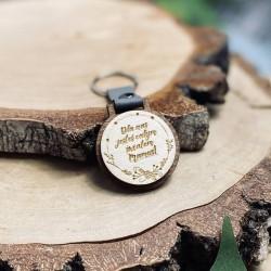 """Brelok drewniany """"Dla nas jesteś całym światem Mamo"""""""