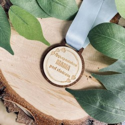 "Drewniany medal ""Najwspanialsza Mama"""