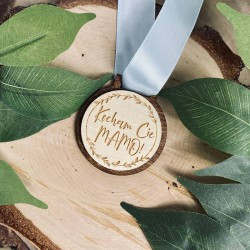 "Drewniany medal ""Kocham Cię Mamo!"""