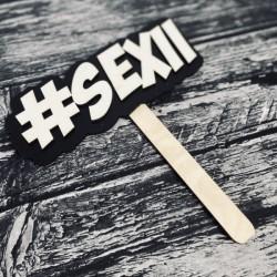 Drewniana tabliczka do fotobudki sexi