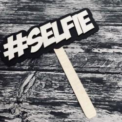 """Drewniana tabliczka do fotobudki """"selfie"""""""