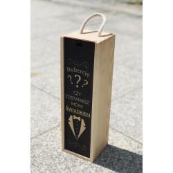Pudełko skrzynia na wino whisky świadek