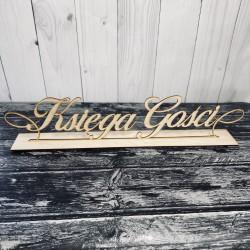"""Drewniany napis na stół """"Księga Gości"""""""
