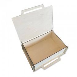 Drewniane pudełko decoupage 26x18