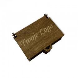Drewniane bejcowane pudełko z własnym logo 11x8,5