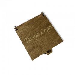 Drewniane bejcowane pudełko z własnym logo 11x11