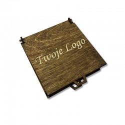 Drewniane olejowane pudełko z własnym logo 11x11