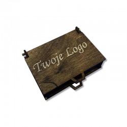 Drewniane olejowane pudełko z własnym logo 11x8