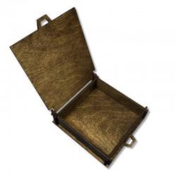 Drewniane olejowane pudełko decoupage 11x11