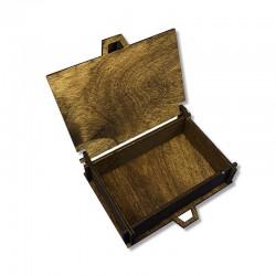 Drewniane olejowane pudełko decoupage 11x8