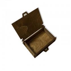 Drewniane bejcowane pudełko decoupage 11x8