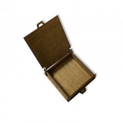 Drewniane bejcowane pudełko decoupage 11x11