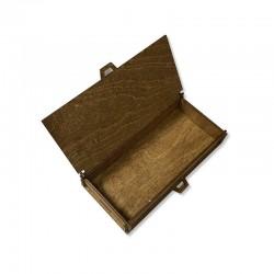 Drewniane bejcowane pudełko decoupage 18x9