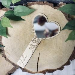 Drewniane lusterko dziecięce