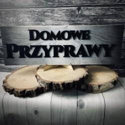 Drewniany szyld przecierany