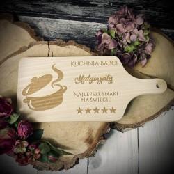 Drewniana Grawerowana deska do krojenia Dzień Babci