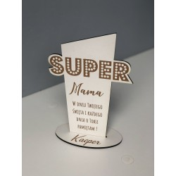 Statuetka na dzień mamy Super Mama biała