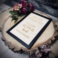 Drewniana grawerowana tabliczka Dzień Babci i Dziadka II