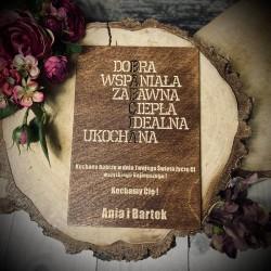 Drewniana tabliczka na Dzień Babci