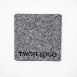 Filcowe podkładki pod kubek Twoje Logo 4 szt.