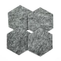 """Filcowe podkładki pod kubek """"Heksagon"""" 4 szt."""