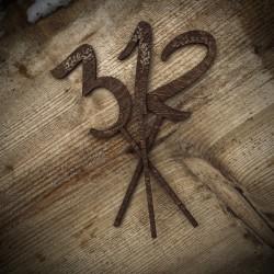Drewniane numerki na stół zestaw 10 szt.