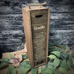 Pudełko/skrzynka na wino, whisky na prezent ciemne