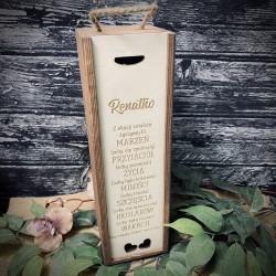 Pudełko/skrzynka na wino, whisky na prezent jasne